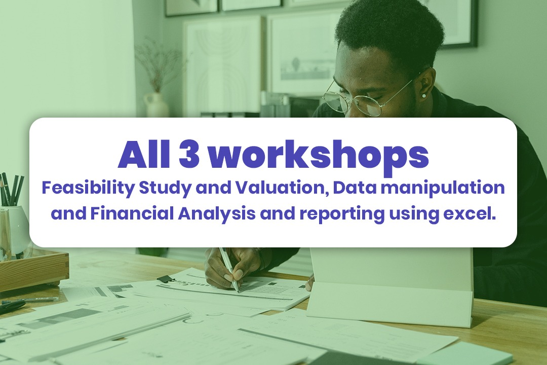 3 Workshops: Feasibility Study And Valuation / Data Manipulation / Financial Analysis And Reporting Using Excel